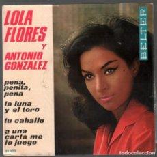 Discos de vinilo: LOLA FLORES Y ANTONIO GONZALEZ - EP BELTER DE 1964 RF-3784. Lote 156929970