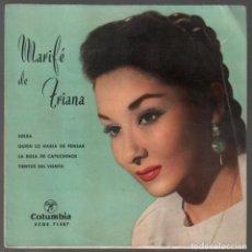 Discos de vinilo: MARIFÉ DE TRIANA.SOLEÁ;QUIÉN LO HABÍA DE PENSAR;LA ROSA DE CAPUCHINOS...EP COLUMBIA , RF-3788. Lote 156933742