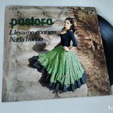 Discos de vinilo: SINGLE (VINILO) DE PASTORA AÑOS 70. Lote 156943014