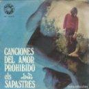 Discos de vinilo: ELS SAPASTRES, CANCIONES DEL AMOR PROHIBIDO. BARLOVENTO 1969. Lote 156944882