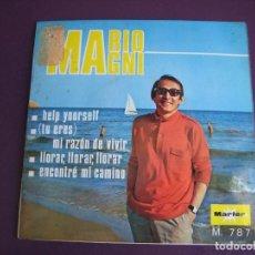 Discos de vinilo: MARIO MAGNI EP MARFER 1968 HELP YOURSELF/ MI RAZON DE VIVIR / LLORAR, LLORAR, LLORAR +1 ITALIA POP. Lote 156955386