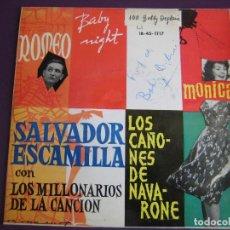 Discos de vinilo: SALVADOR ESCAMILLA EP IBEROFON 1962 - ROMEO/ BABY NIGHT/ MONICA/ CAÑONES NAVARONE - DEGLANE . Lote 156959430