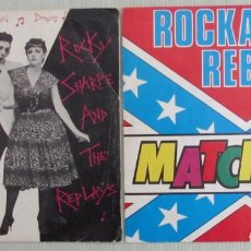 Discos de vinilo: 2 SINGLES. ROCKY SHARPE ANDE THE REPLAYS. RAMA LAMA DING DONG. MATCHBOX. ROCKABILLY REBEL.. Lote 156960246