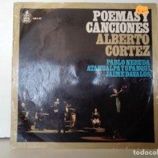 Discos de vinilo: POEMAS Y CANCIONES ALBERTO CORTEZ . Lote 156964730