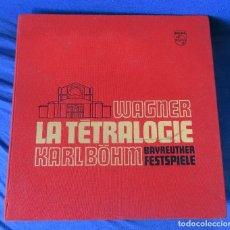 Discos de vinilo: WAGNER .-LA TETRALOGIA KARL BOHM ESTUCHE CON 16 LP´S PHILIPS 6747 037. Lote 156965130