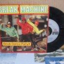 Discos de vinilo: SINGLE BREAK MACHINE- BREAK DANCE PARTY, 1984.. Lote 156975642