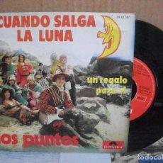 Disques de vinyle: LOS PUNTOS - CUANDO SALGA LA LUNA- SINGLE SPAIN 1973 PEPETO. Lote 156977950
