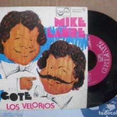 Discos de vinilo: MIKE LAURE -- EL BIGOTE / LOS VELORIOS, ZAFIRO 1977.SINGLE . Lote 156983454