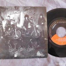 Discos de vinilo: MOTLEY CRUE 7 SINGLE GIRLS GIRLS GIRLS AÑO 1987 PROMOCIONAL. Lote 156998858