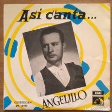 Discos de vinilo: ANGELILLO ASI CANTA EP EMI. Lote 156999546