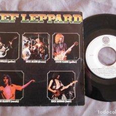 Discos de vinilo: DEF LEPPARD 7 SINGLE WASTED AÑO 1979. Lote 156999738