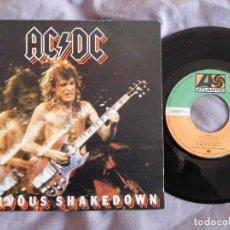 Discos de vinilo: AC/DC 7 SINGLE NERVOUS SHAKEDOWN AÑO 1984. Lote 157000594