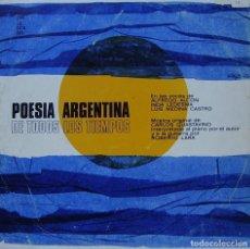 Discos de vinilo: POESIA ARGENTINA DE TODOS LOS TIEMPOS-- ALFREDO ALCON + INDA LEDESMA.. LP SPAIN 1970 REGULAR. Lote 157000598