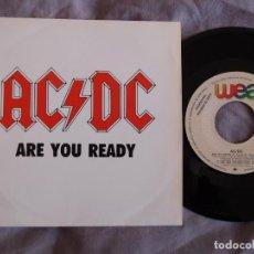 Discos de vinilo: AC/DC 7 SINGLE ARE YOU READY AÑO 1990 PROMOCIONAL. Lote 157000754