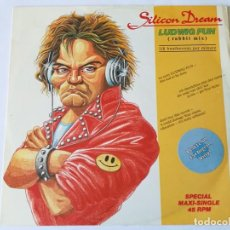 Discos de vinilo: SILICON DREAM - LUDWIG FUN (RABBIT MIX) - 1989. Lote 157001102