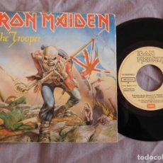 Discos de vinilo: IRON MAIDEN 7 SINGLE THE TROOPER EDICIÓN ESPAÑOLA DEL AÑO 1983 PROMOCIONAL. Lote 157001234
