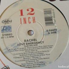 Discos de vinilo: RACHEL - LOVE EMERGENCY - 1987. Lote 157003078