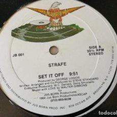 Discos de vinilo: STRAFE - SET IT OFF - 1984. Lote 157003442