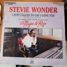 Discos de vinilo: STEVIE WONDER - I JUST CALLED TO SAY I LOVE YOU. Lote 157007104