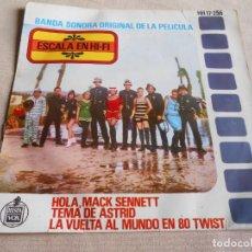 Discos de vinilo: ESCALA EN HI-FI, EP, B. S. O. HOLA, MACK SENNETT + 2, AÑO 1963. Lote 157013726