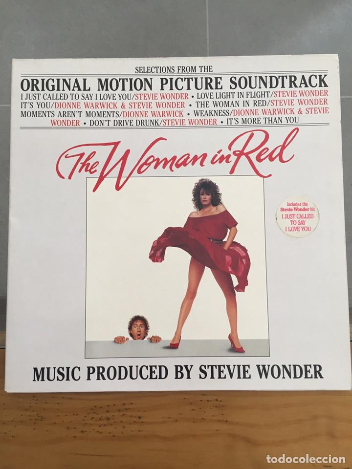THE WOMAN IN RED-LA MUJER DE ROJO-LP BSO MADE IN GERMANY-ORIÓN PICTURE 1984 (Música - Discos - LP Vinilo - Bandas Sonoras y Música de Actores )