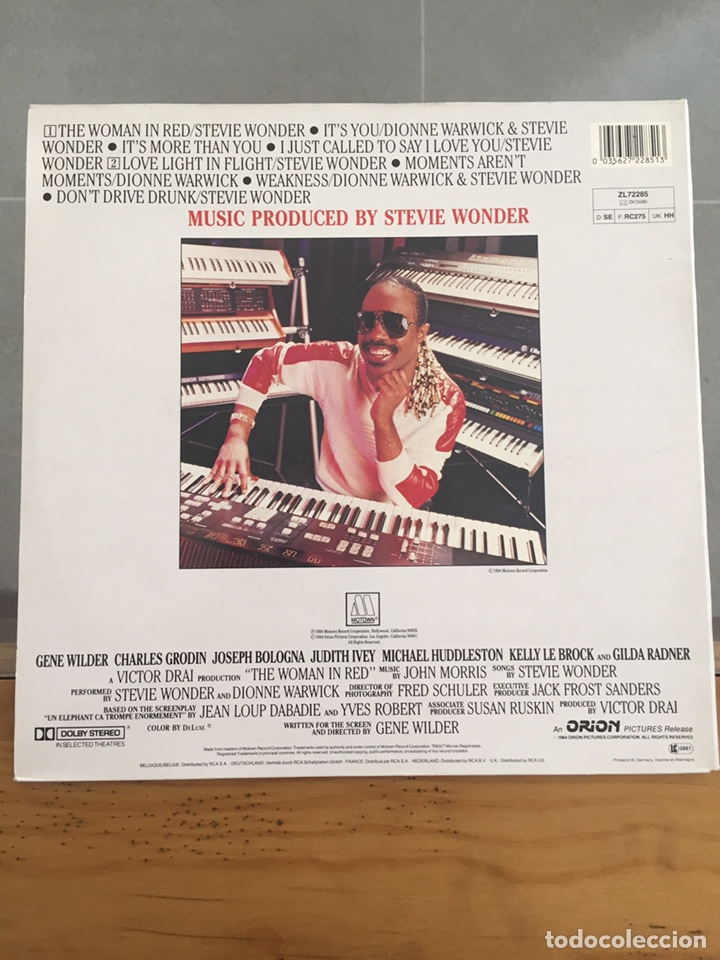 Discos de vinilo: THE WOMAN IN RED-LA MUJER DE ROJO-LP BSO MADE IN GERMANY-ORIÓN PICTURE 1984 - Foto 2 - 157014725