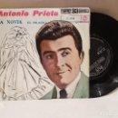 Discos de vinilo: ANTIGUO SINGLE ANTONIO PRIETO LA NOVIA EL MILAGRO BUEN ESTADO VER FOTOS. Lote 157015334