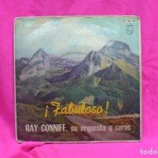 Discos de vinilo: RAY CONNIFF -- BESAME MUCHO, TIEMPO DE VERANO, TENTACION, BRASIL, PHILIPS, 1962, VINILO AZUL.. Lote 157019358