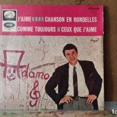 Discos de vinilo: ** ADAMO - J'AIME / CHANSON EN RONDELLES + 2 - EP AÑO 1965 - LEER DESCRIPCIÓN. Lote 157022770