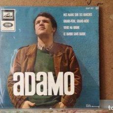 Discos de vinilo: ** ADAMO - MES MAINS SUR TES HANCHES + 3 - EP AÑO 1966 - MADE IN FRANCE - LEER DESCRIPCION. Lote 157025022