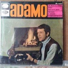 Discos de vinilo: ** ADAMO - UNE MECHE DE CHEVEUX + 3 - EP AÑO 1966 - LEER DESCRIPCION. Lote 157027286