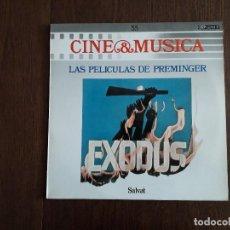Discos de vinilo: DISCO VINILO LP CINE & MÚSICA, LAS PELÍCULAS DE PREMINGER, SALVAT. AÑO 1988. Lote 157027826