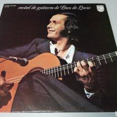 Discos de vinilo: RECITAL DE GUITARRA DE PACO DE LUCÍA. LP VINILO BUEN ESTADO. Lote 157052041