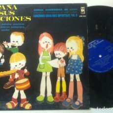 Discos de vinilo: CORAL ISIDORIANA DE LEON - CANCIONES ESCOLARES INFANTILES VOL 2 - LP 1970 - ESDE - PEDAGOGIA. Lote 157065798