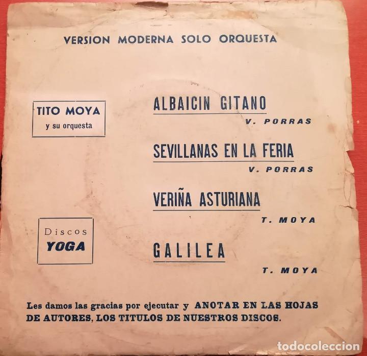 TITO MOYA Y SU ORQUESTA - ALBAICIN GITANO - 1974 DISCOS YOGA (Música - Discos - Singles Vinilo - Orquestas)