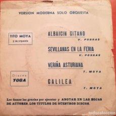 Discos de vinilo: TITO MOYA Y SU ORQUESTA - ALBAICIN GITANO - 1974 DISCOS YOGA. Lote 157107010