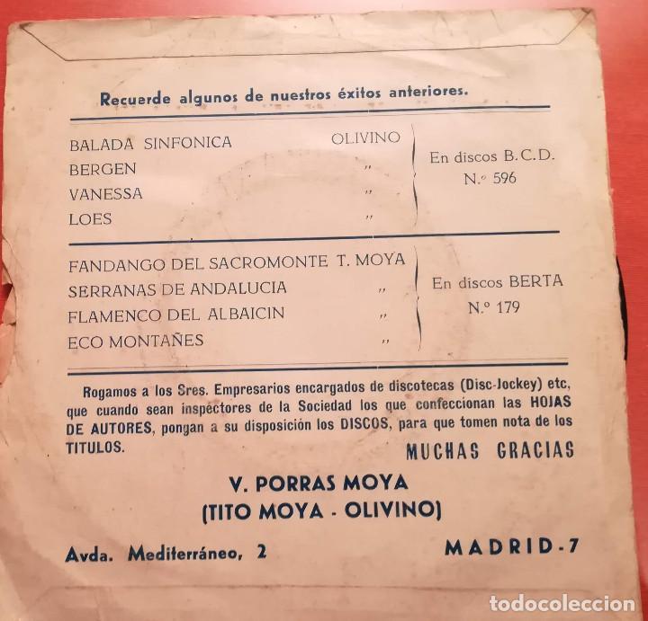 Discos de vinilo: TITO MOYA Y SU ORQUESTA - ALBAICIN GITANO - 1974 DISCOS YOGA - Foto 2 - 157107010