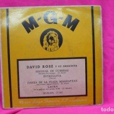 Discos de vinilo: DAVID ROSE - FESTIVAL DE CUERDAS, ESTRELLITA, DANZA DE LA PLAZA MANHATTAN, LAURA, M-G-M.. Lote 157110910