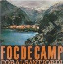 Discos de vinilo: CORAL SANT JORDI, FOC DE CAMP. EDIGSA 1962 -HOJA INTERIOR+TRICENTER-. Lote 157129206