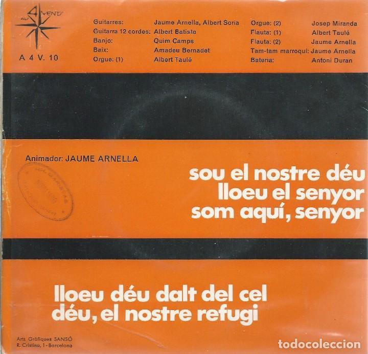 Discos de vinilo: JAUME ARNELLA, LLOEM DEU. ALS 4 VENTS 1968. - Foto 2 - 157129346