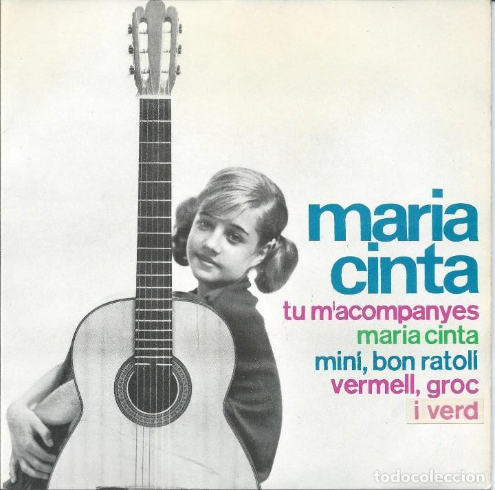 MARIA CINTA, TU M'ACOMPANYES. EDIGSA 1964 (Música - Discos de Vinilo - EPs - Cantautores Españoles)