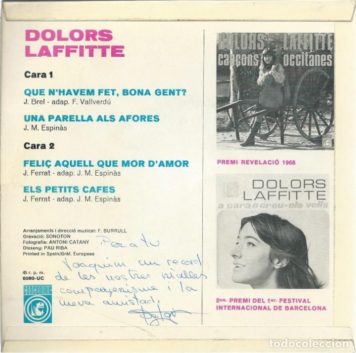 Discos de vinilo: DOLORS LAFFITTE, UNA PARELLA ALS AFORES, CONCENTRIC 1969. - Foto 2 - 157133894