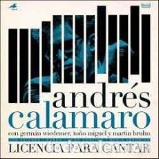 Discos de vinilo: ANDRÉS CALAMARO ?– LICENCIA PARA CANTAR - RECORD STORE DAY 2017. Lote 161225888