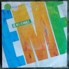 Disques de vinyle: EMF – UNBELIEVABLE 1990. Lote 157210034