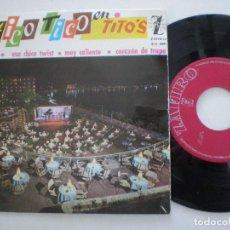 Discos de vinilo: LOS TICO TICO - ESA CHICA TWIST + 3 - EP ZAFIRO 1964 . Lote 157218554
