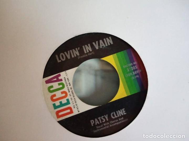 PATSY CLINE LOVIN IN VAIN / I FALL TO PIECES R'N'R COUNTRY ORIGINAL USA 1961 VG+ (Música - Discos - Singles Vinilo - Country y Folk)
