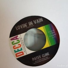 Discos de vinilo: PATSY CLINE LOVIN IN VAIN / I FALL TO PIECES R'N'R COUNTRY ORIGINAL USA 1961 VG+. Lote 157226614
