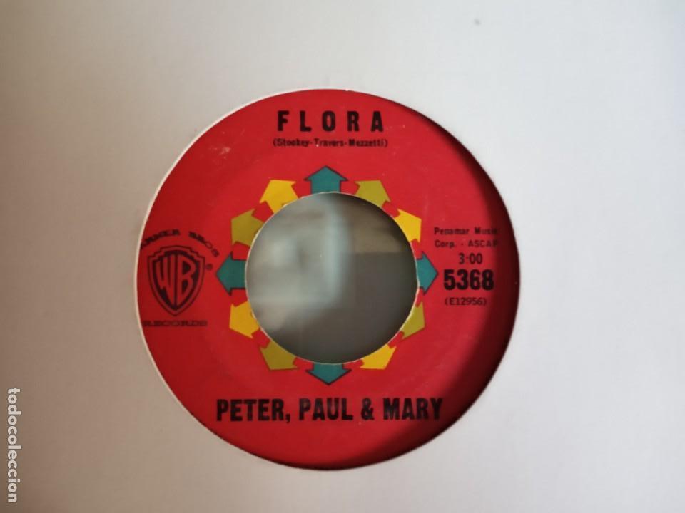 PETER, PAUL & MARY FLORA / BLOWIN IN THE WIND FOLK ROCK ORIGINAL USA 1963 VG+ (Música - Discos - Singles Vinilo - Country y Folk)