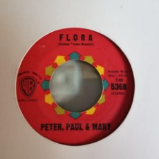 Discos de vinilo: PETER, PAUL & MARY FLORA / BLOWIN IN THE WIND FOLK ROCK ORIGINAL USA 1963 VG+. Lote 157228454