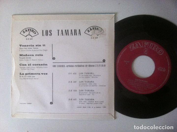 Discos de vinilo: LOS TAMARA - venecia sin ti - EP 1965 - ZAFIRO - Foto 2 - 157242594